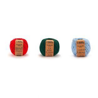 3 rocchetti di filo di cotone per...