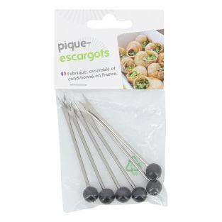 6 stainless steel & plastic snail...