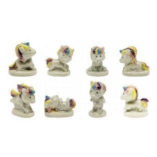 2 figurine di porcellana - Unicorni