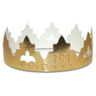 2 cardboard crowns for Epiphany cake...