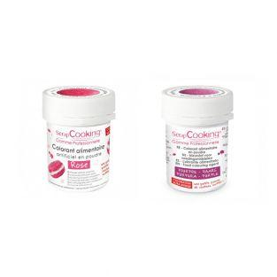 2 powdered food colorings - purple-pink
