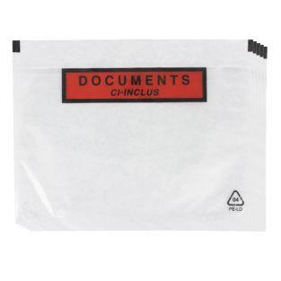 5 clear adhesive shipping pouches A5