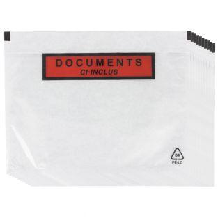 10 clear adhesive shipping pouches A5