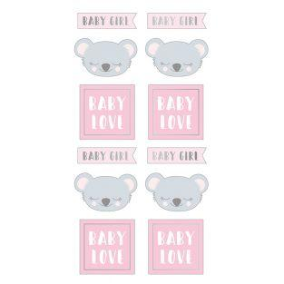 Stickers puffies - Koala baby girl