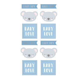 Pegatinas puffies - Koala baby boy