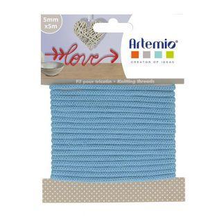 Knitting yarn 5 mm x 5 m - Light blue