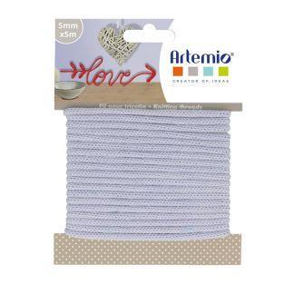 Knitting yarn 5 mm x 5 m - Lilac