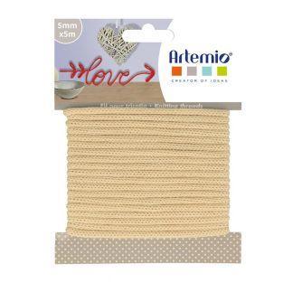 Knitting yarn 5 mm x 5 m - Vanilla