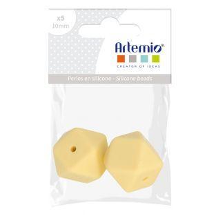 Silicone bead hexagonal x 2 - 17 mm -...