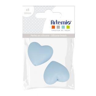 Perla de silicona en corazón x 2 - 29...