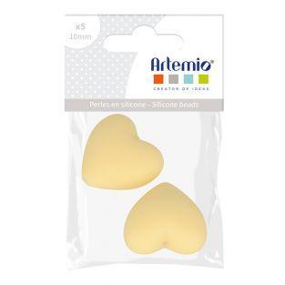 Perlina di silicone forma di cuore x...