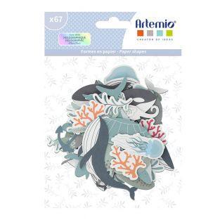 67 Papierschnipsel - Meeresboden