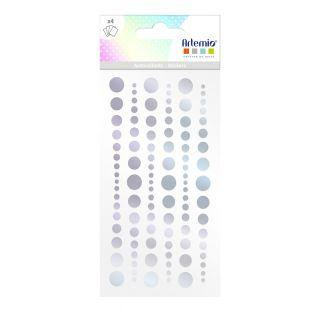 Pegatinas holográficas redondas x 4