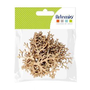 30 Mini-Holzsilhouetten - Korallen