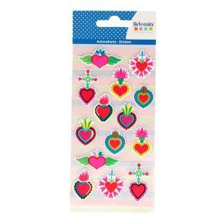Stickers puffies - Viva la vida - Cœurs