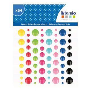 64 stickers en émail - Viva la vida