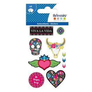 4 stickers - Viva la vida