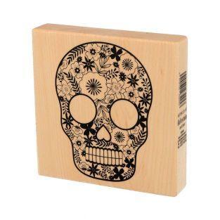 Wooden stamp - Skull - Viva la vida -...