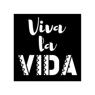 12 plantillas 9 x 9 cm - Viva la vida