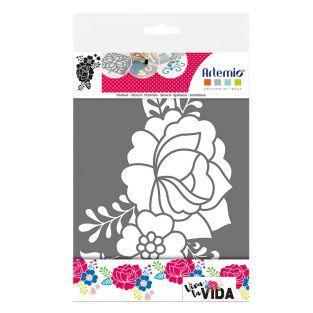 Stencil A4 - Flowers Viva la vida