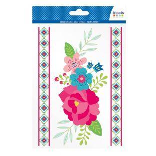 Transfer para textiles - A5 - Flores...