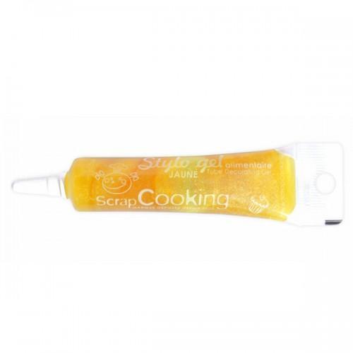 Tubo alimentario con brillo - amarillo