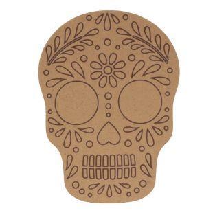 Wooden silhouette mdf - Skull - Viva...