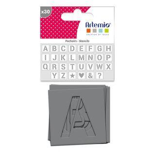 30 Schablonen 6 x 6 cm - Alphabet