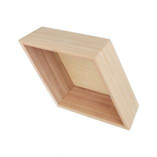 Diamond shelf x 3 - 34.5 x 20 x 10.5 cm
