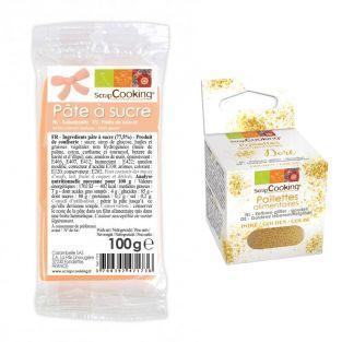Peach sugarpaste 100 g + Edible...