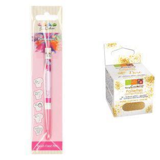 Edible Brush Food Pen Pink + Edible...