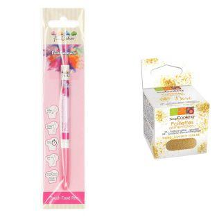 Stylo feutre alimentaire Rose +...