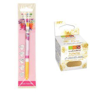 Edible Brush Food Pen Gold + Edible...