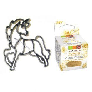 Unicorn Cookie Cutter + Edible golden...