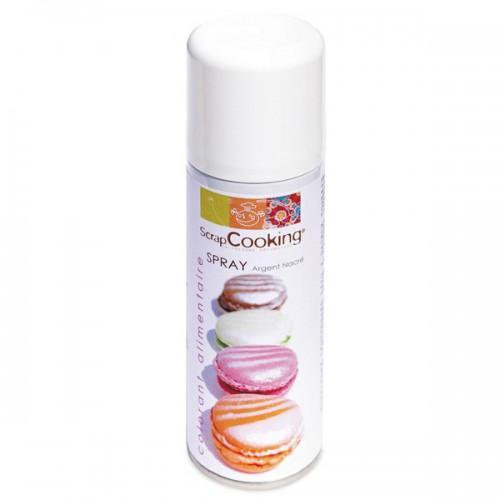 Spray colorant alimentaire argenté