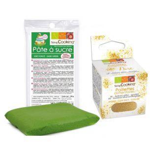 Pâte à sucre vert foncé 100 g +...