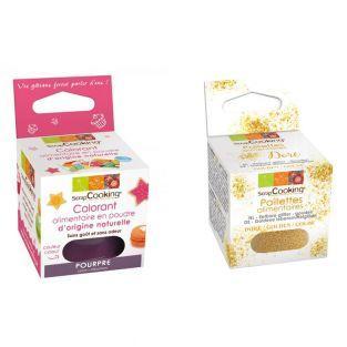 Lebensmittelfarbe Lila + Goldene...