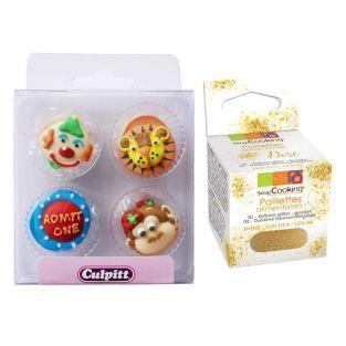 12 sugar decorations Circus + Edible...