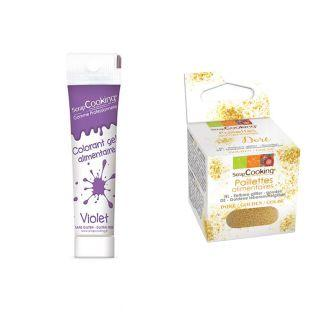 Colorant alimentaire en gel violet +...