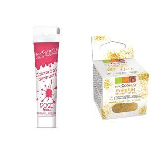 Colorant alimentaire en gel rose...