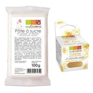 Pâte à sucre blanche 100 g +...
