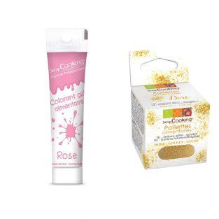 Gel colorant alimentaire rose +...