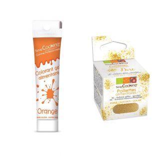 Gel colorante comestible naranja 20 g...