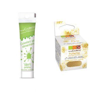 Gel colorant alimentaire vert clair +...