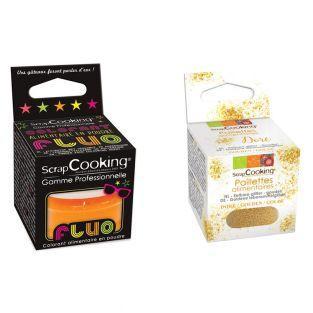 Food coloring powder 3 g neon orange...