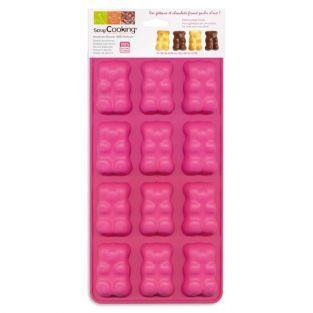 Moules oursons guimauve-chocolat