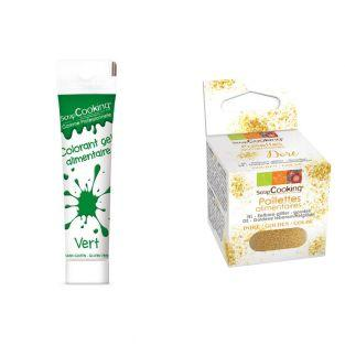 Gel colorante comestible verde 20 g +...