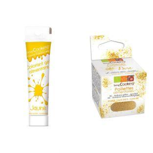 Gel colorant alimentaire jaune +...