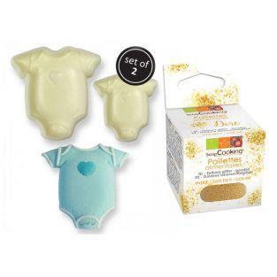 Kuchenform babykörper x 2 + Goldene...