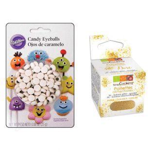 56 decoraciones de azúcar Ojos 1 cm +...